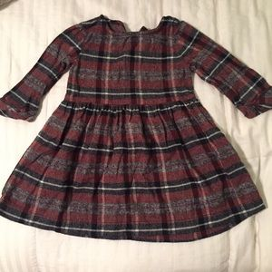 Plaid toddler/baby girl fall dress
